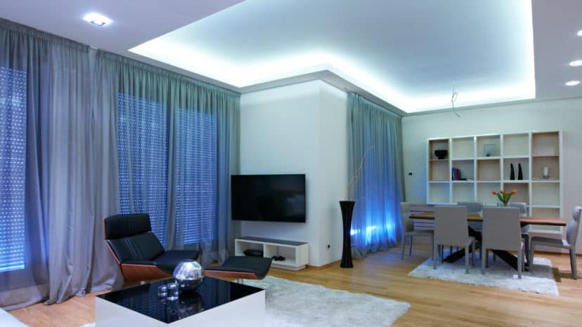 Indirect lighting for a cosy living room